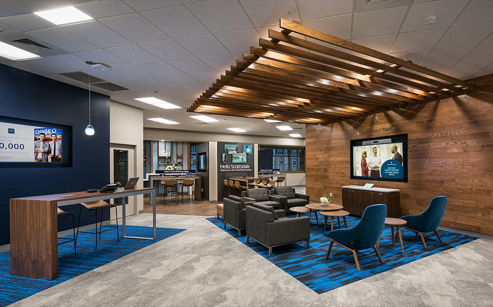 The One Shown Here Is A Remodel Of A Chase Bank Interior In Scottsdale. The  Photographs Were Made To Update Their Portfolio And Marketing Materials.
