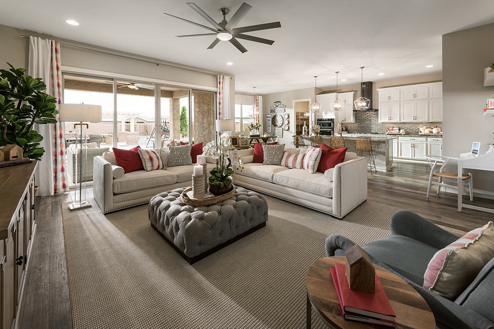 The Interior For A New Model At Lakeview Trails At Morrison Ranch For  MERITAGE HOMES.