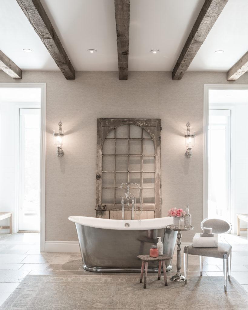 The Master Bath Of A Custom Home Created By Kristin Hazen Design